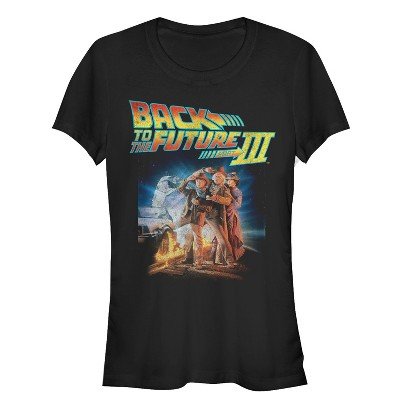 Junior's Back to the Future Part 3 Character Pose T-Shirt