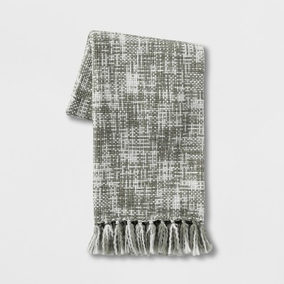 Marled Woven Throw Blanket Gray - Threshold™