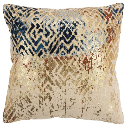 Abstract Poly Filled Pillow Navy - Rizzy Home - image 1 of 4