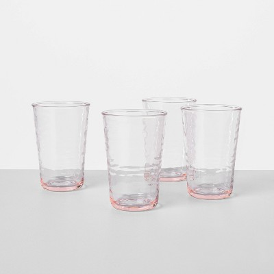 4pk Tinted Acrylic Drinkware Light Pink - Hearth & Hand™ with Magnolia
