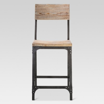 24  Franklin Counter Stool Steel/Natural - Threshold™