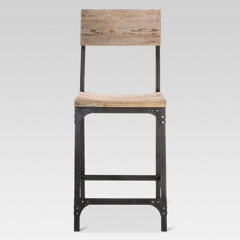 Fantastic 24 Franklin Counter Stool Steel Natural Threshold Uwap Interior Chair Design Uwaporg