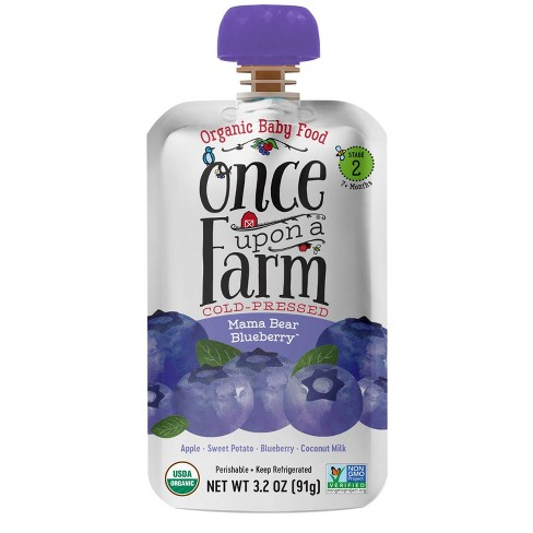 Once Upon a Farm Mama Bear Blueberry Stage 2 Baby Food - 3.2oz - image 1 of 3