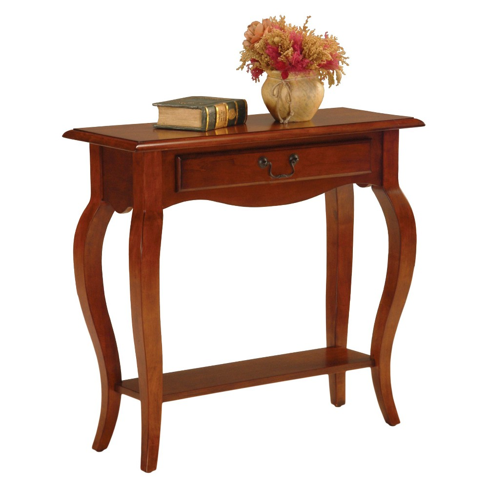 Favorite Finds Console Table Brown Cherry (Red) Finish - Leick Home