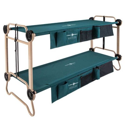 Disc-O-Bed Large Cam-O-Bunk Camping Double Cot with Organizers & Leg Extensions