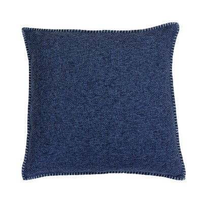 Set of 2 Chunky Oversize Square Throw Pillow Indigo - Décor Therapy
