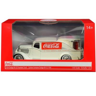 "1934 Dodge KH-32 Streamline Fountain Truck ""Coca-Cola"" Cream 1/43 Diecast Model Car by Motorcity Classics"