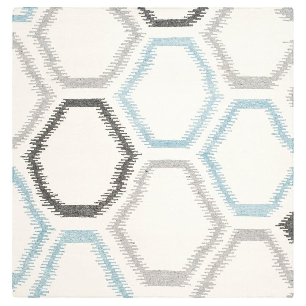 Buy Dhurries Rug - Ivory Multi - (6x6 Square) - Safavieh