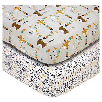 Baby Fitted Sheet NoJo Multi-colored 2 Pk