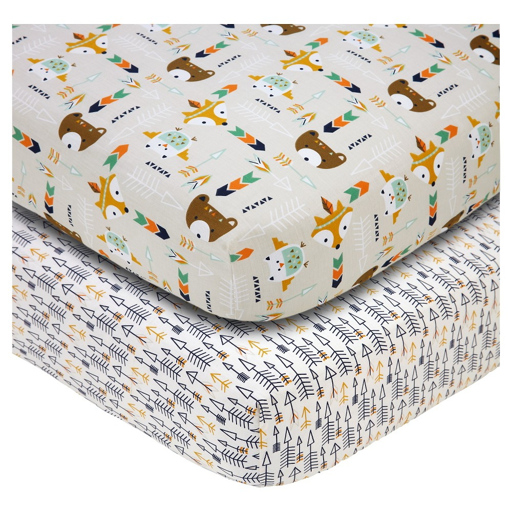 Image of Baby Fitted Sheet NoJo Multi-colored 2 Pk