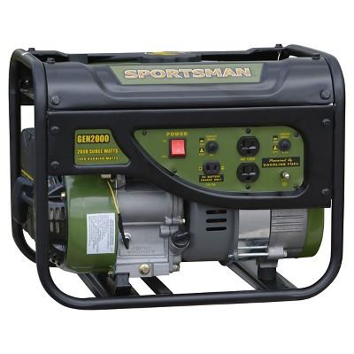 Gasoline 2000 Watt Portable Generator - Black - Sportsman