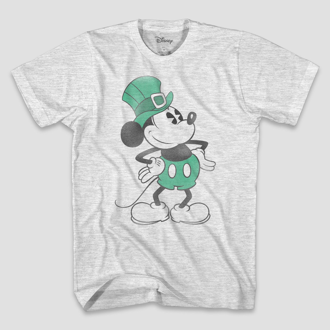 Men's Disney Mickey Mouse Short Sleeve Graphic T-Shirt - Ash - image 1 of 1