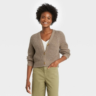 Women's Open Neck Button-Front Cardigan - A New Day™