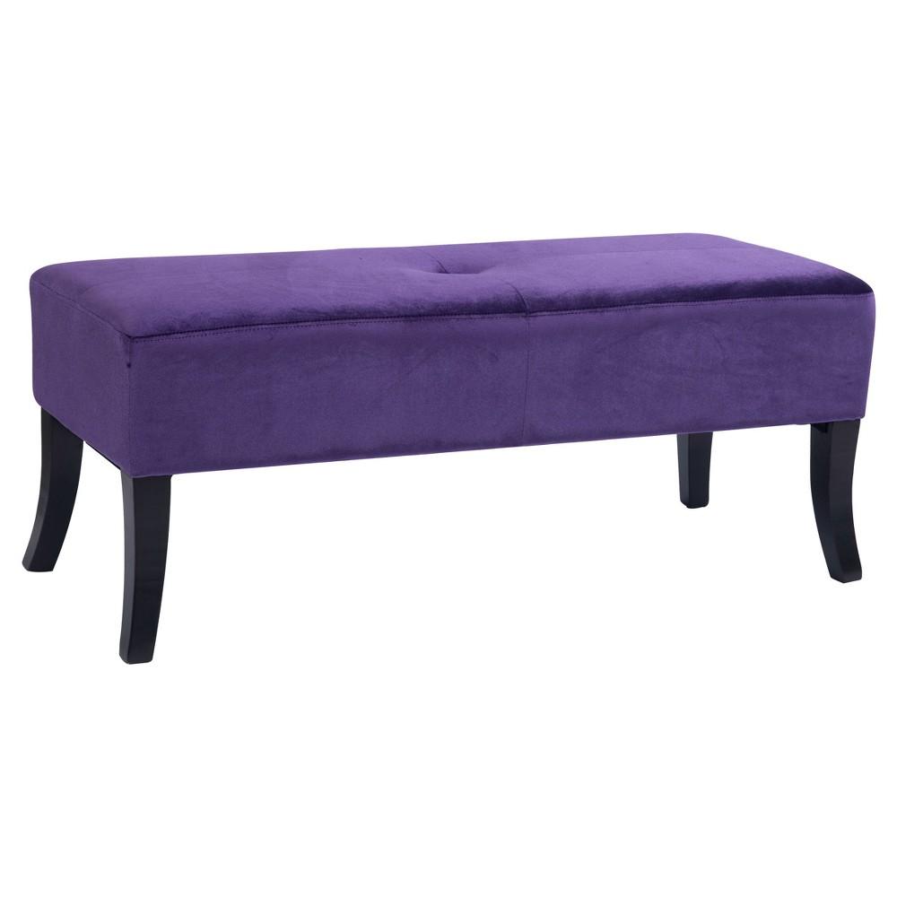 Antonio 46 Wide Bench - Purple Velvet - Corliving
