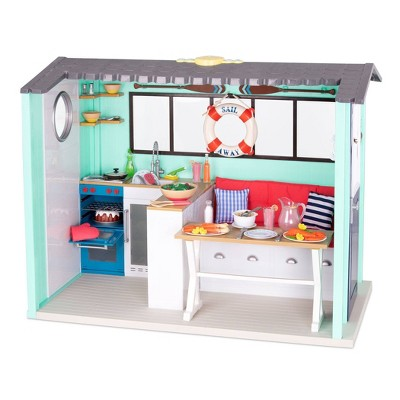 "Our Generation Seaside Beach House Playset for 18"" Dolls"