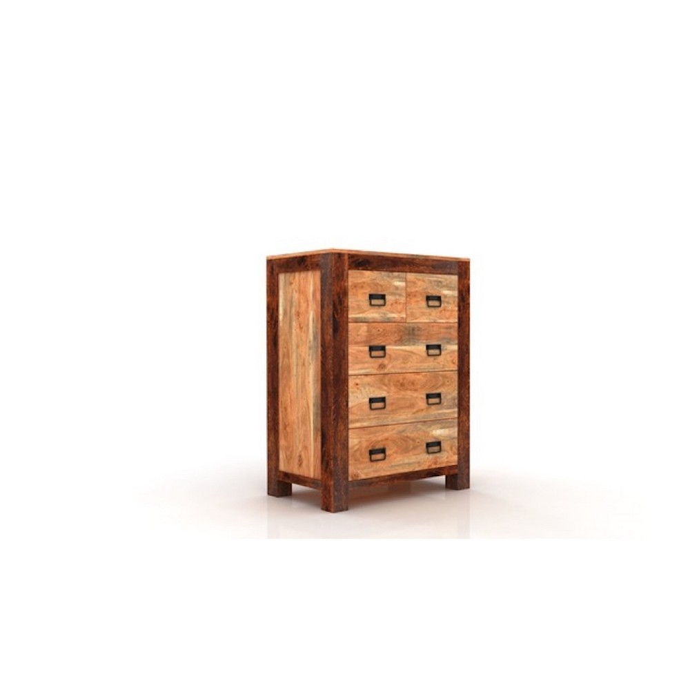 Image of Ajmer 5 Drawer Chest Natural - Timbergirl