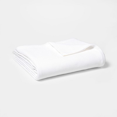 King Waffle Weave Bed Blanket White - Threshold™