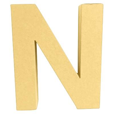 7  Paper Mache Letter N - Hand Made Modern