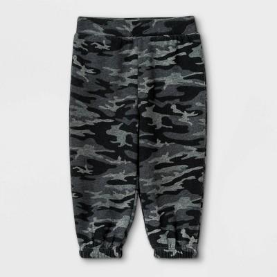 Grayson Mini Baby Girls' Camo Pull-On Pants - Black