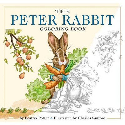 The Peter Rabbit Coloring Book - (Classic Edition) by  Beatrix Potter (Paperback)