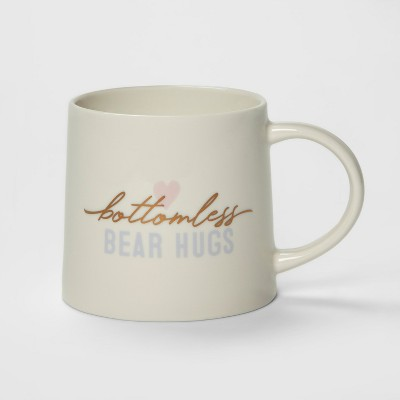15oz Porcelain Bottomless Bear Hugs Mug Cream - Threshold™