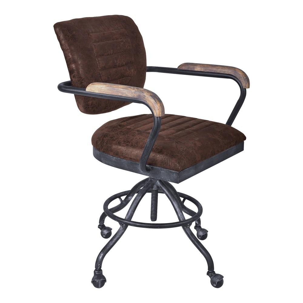 Brice Modern Office Chair Brown - Armen Living