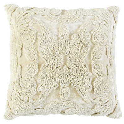 """20""""x20"""" Oversize Butterfly Square Throw Pillow Cover - Rizzy Home"""