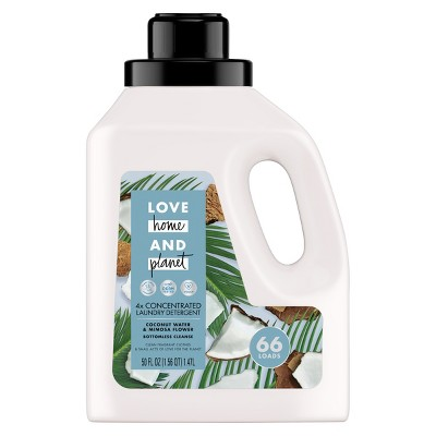 Love Home & Planet Coconut Water & Mimosa Flower Concentrated Laundry Detergent - 50 fl oz