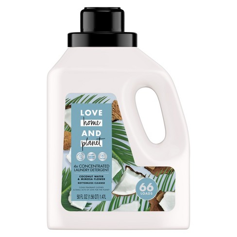 Love Home & Planet Coconut Water & Mimosa Flower Concentrated Laundry Detergent - 50 fl oz - image 1 of 4