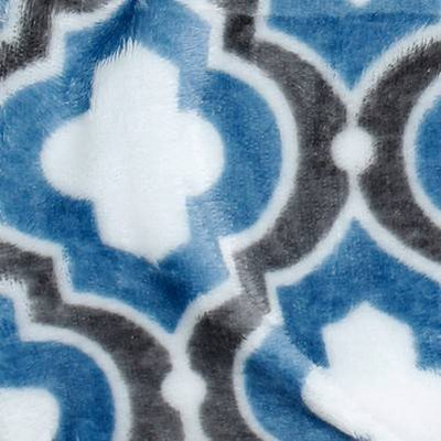 blue quatrefoil
