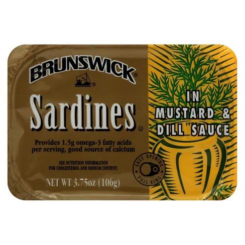 Brunswick Sardines in Mustard & Dill Sauce 3.75 oz - image 1 of 1
