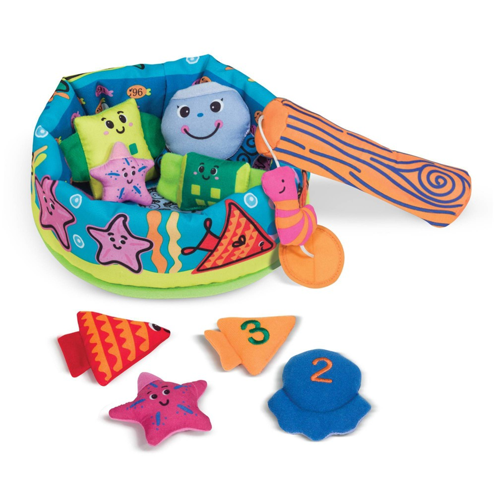 Melissa 38 Doug K 39 S Kids Fish And Ct Learning Game With 8 Numbered Fish To Catch And Release