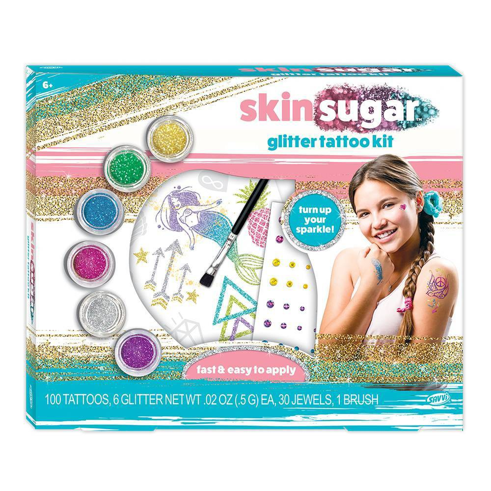Image of Savvi Skin Sugar Glitter Tattoo Kit