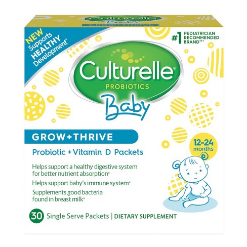 Culturelle Baby Grow + Thrive, Probiotic + Vitamin D Packets - 30ct - image 1 of 3