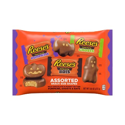 Reese's Halloween Peanut Butter Assorted Shapes Bag - 9.6oz