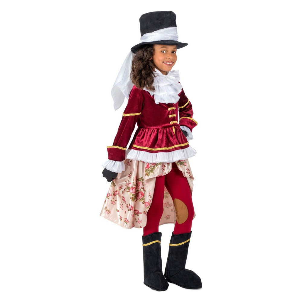 Girls' Colonial Equestrienne Halloween Costume M, Multicolored