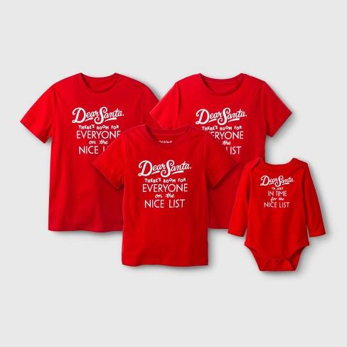 Women s Plus Size Short Sleeve  Dear Santa  T-Shirt - Red   Target fb5ad2366e