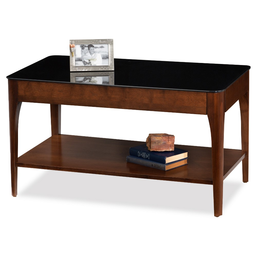 Obsidian Condo, Apartment Coffee Table - Chestnut - Leick Home, Brown