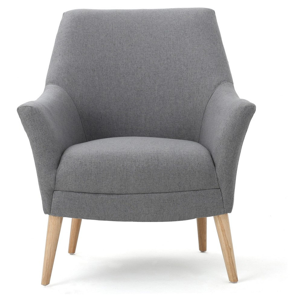 Mae Upholstered Club Chair - Gray - Christopher Knight Home