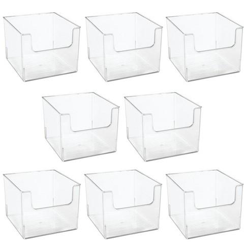 Mdesign Plastic Home Office Storage Bin, Office Storage Bins