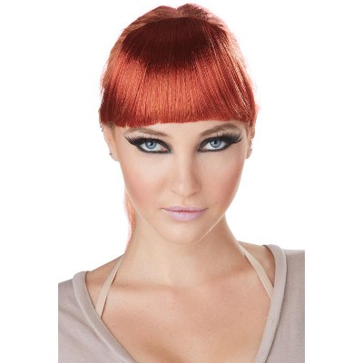 California Costumes Clip-On Bangs Costume Wig (Red)
