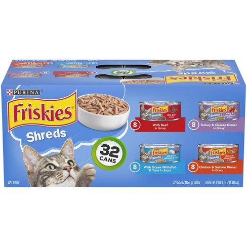 Purina Friskies Shreds Variety Pack Wet Cat Food Cans -  5.5oz - image 1 of 4
