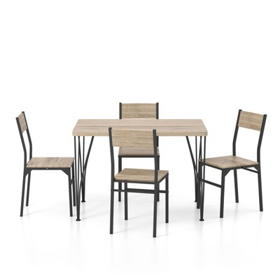 """5pc 44"""" Cove Park Dining Set Natural - HOMES: Inside + Out"""