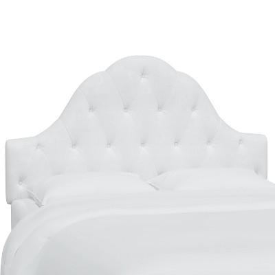 Twin Kids' Carly Tufted Headboard White - Skyline Furniture