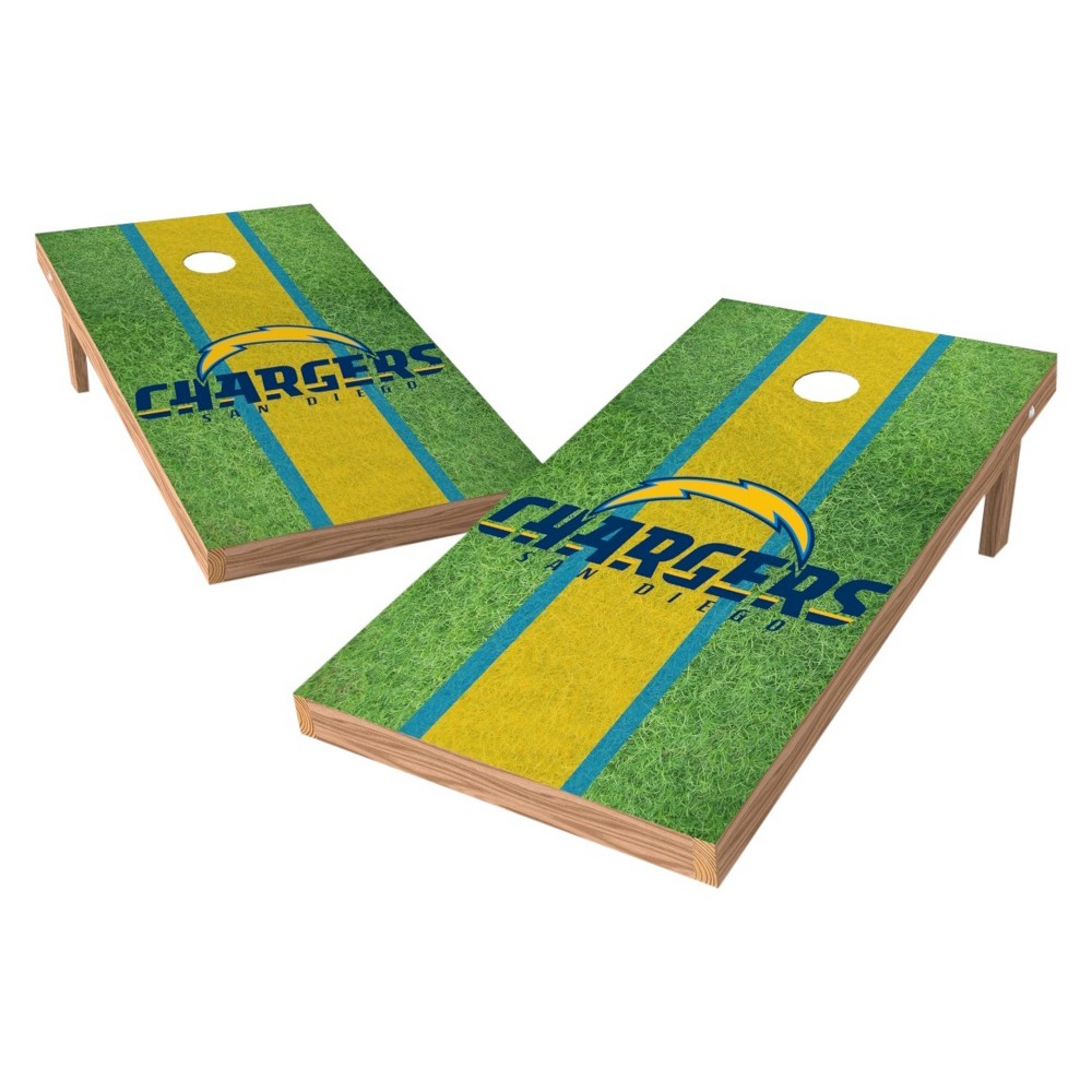 Los Angeles Chargers Wild Sports XL Shield Logo Cornhole Bag Toss Set - 2'X4'