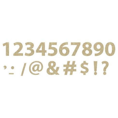 Burlap Shapes Numbers and Symbols Adhesive - 2 pack - image 1 of 1