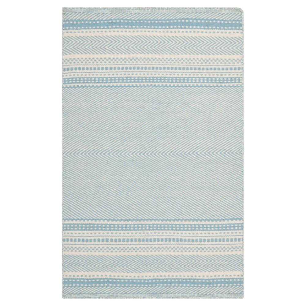 Rhea Accent Rug Light Blue Ivory 2 39 X 3 39 Safavieh