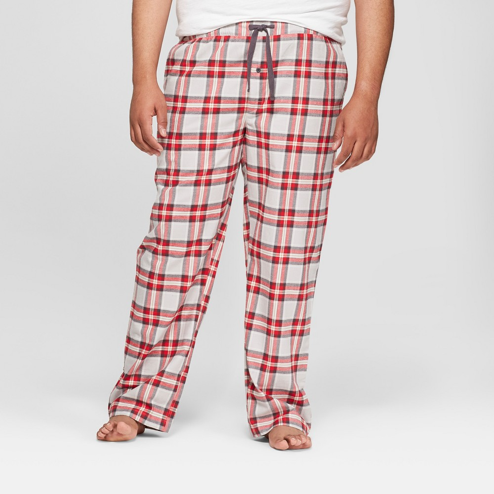 Men's Tall Plaid Lounge Flannel Pajama Pants - Goodfellow & Co Gray MT