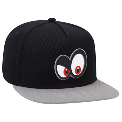 Super Mario: Cappy Angry Eyes Brimmed Hat - Black/Gray - image 1 of 1