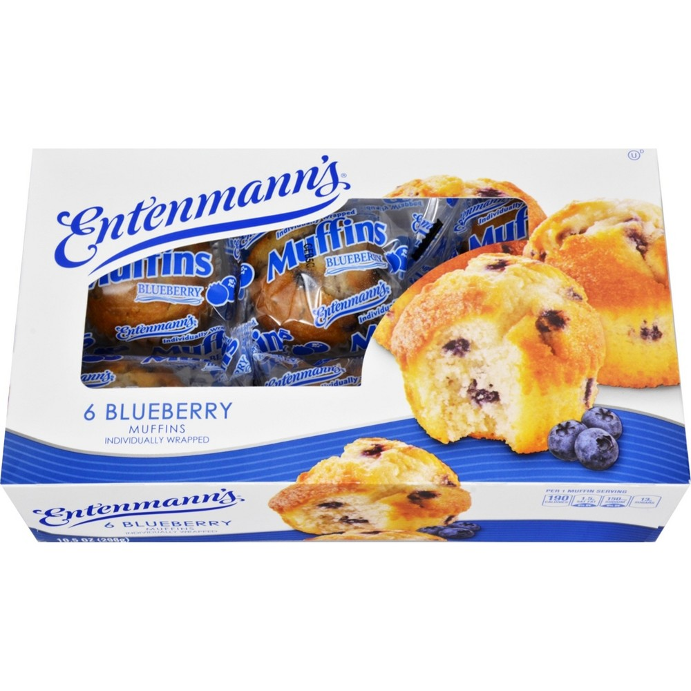 Entenmann's Wrapped Blueberry Muffins - 6ct/10.5oz